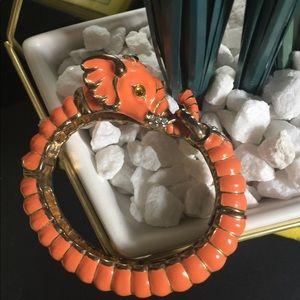 Kenneth Jay Lane Coral Elephant Bracelet